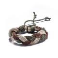 Heißes Verkaufs-Art- und Weiseweinlese-Cowmade Armband-Grün und Brown-handgemachtes Armband