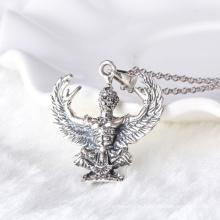 Тайский черный серебряный ястреб-кулон ожерелье
