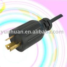 Aprovação UL, conjunto de cabo de alimentação com conector NEMA L5 - 15P plug L14 - 20P gêmeo trancado L14 - 30P R