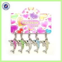 Wholesale Alloy High Quality Crystal Dolphin Charm