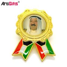 Échantillon gratuit Odm Metal Crafts Conception Mignon Sécurité Hijab Écharpe Musulman Pin