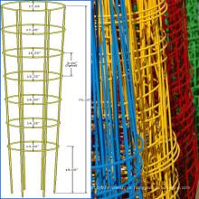 Jaulas de tomate construidas con mallas de alambre soldadas