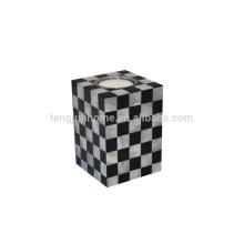 Titular de la vela blanca del seashell de la alta calidad con un agujero