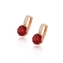 96759 xuping vente chaude fashion rose doré zircon synthétique dames boucles d'oreilles