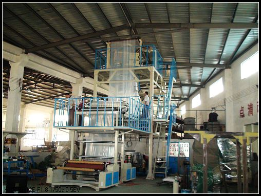 three layer coextrusion film blowing machine
