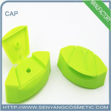 green injection plastic disc top cap for custom bottle