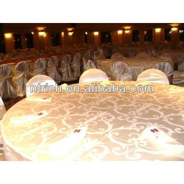 Pano de tabela do jacquard elegante, a toalha de mesa de tecido adamascado