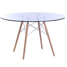 Стеклянный складной обеденный стол