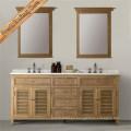 Vanidad del cuarto de baño con el diseño del obturador