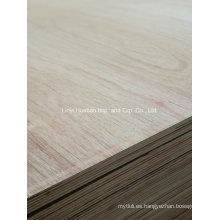 Contrachapado laminado de 18 mm para gabinetes E0 Grado de muebles de pegamento