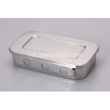 STAINLESS STEEL DISINFECTANT SQUARE DISH