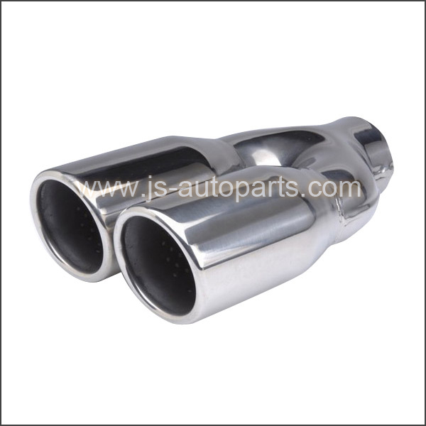 DUAL PERF CORE INSIDE ROLLED IN EXHAUST TAIL PIPE TRIM TIP