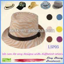 2013 Sombrero de paja hecho punto al por mayor del papel de Panamá de las mujeres el 100%, LSP05