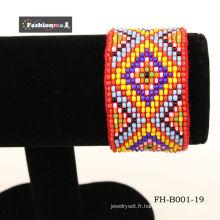bracelets de corde perlée à la main exquis