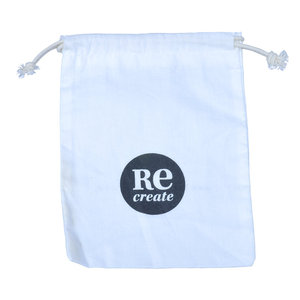 Eco-friendly Drawstring Cotton Bag with Printing