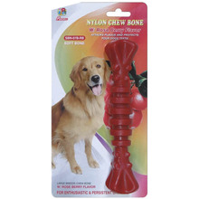"Percell 7,5 ""Nylon Dog Chew Spiral Bone Rasberry Geur"