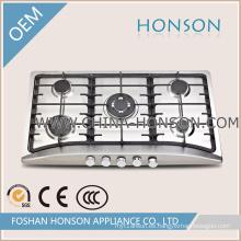 Cocina de gas del esmalte de cinco hornillas
