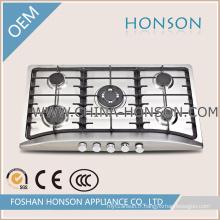 Table de cuisson à gaz à cinq brûleurs en émail