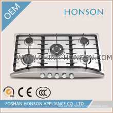 Five Burners Enamel Gas Cooker Gas Hob