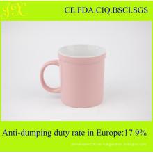 Farbe glasierte keramische Kaffeetassen