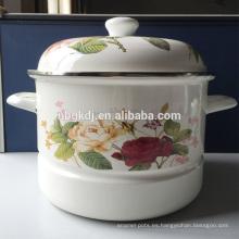 proveedor de China moda personalizada logo esmalte metal olla de vapor