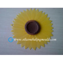 Sunflower Design Silicone Lid , Yellow Oem Silicone Cover Promotion Gift