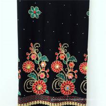 Rayón plegado hilado teñido con tela de bordado