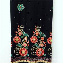Плетеный искусственный шелк с вышивкой