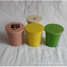 (BC-C1030) Coupe à la vaisselle en fibre de bambou naturel à chaud avec impression