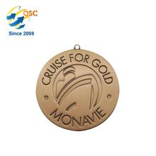 Freier Entwurfs-Fabrik-Preis Kundengerechte Marathon-Medaillen Kundenspezifische Ring-Form-Entwurf Ihre eigene Medaille