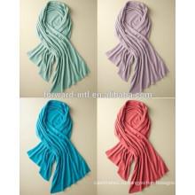 Мода красочные 100% кашемир вязаный платок, 100% кашемир оберните