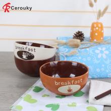 Preiswertes keramisches Frühstück Schüssel, keramische tiefe Getreide Frühstück Schüssel