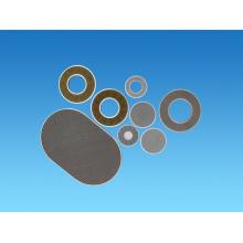 Disco de filtro de metal poroso sinterizado de acero inoxidable 316