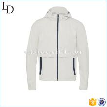 Chaqueta de deporte de chaqueta de hombres de chaqueta de forma dobladillo curvado sin cuello
