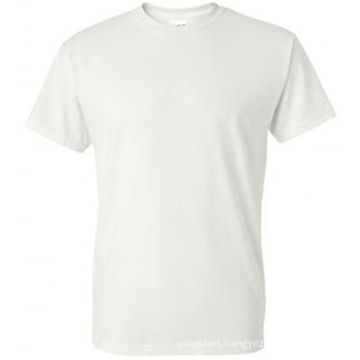 100% Cotton Promotion Round Neck White T-Shirt