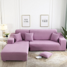 Sectional Couch 2pcs L Shaped Sofa Covers Softness Furniture Slipcovers LType Polyester Stretch  pink Sofa Covers 3Seats+3seats