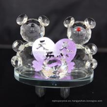 Decoración romántica Regalo de San Valentín Crystal Teddy Bear