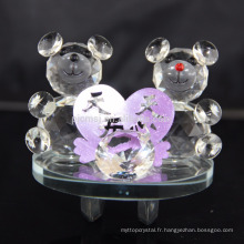Décoration romantique Saint-Valentin cadeau nounours en cristal