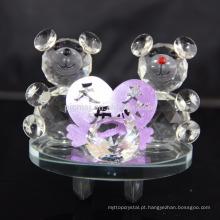 Decoração Romântica Dia Dos Namorados Presente Cristal De Pelúcia Urso