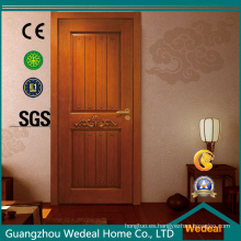 Puerta de madera sólida compuesta para la decoración interior / exterior