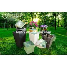 Nuevo moderno exterior maceta de decoración / flor de mimbre maceta al aire libre muebles TF-9610