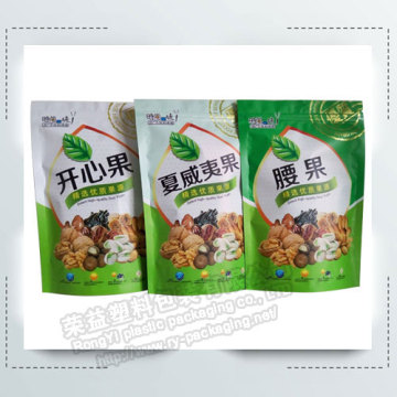 Stand Up Zipper Plastic Food Packaging Pouches