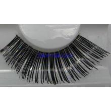 Black with silver Natural False Eyelashes , Longer Eyelashe