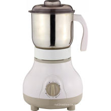 Commercial electric coffee bean grinder in the kitchen