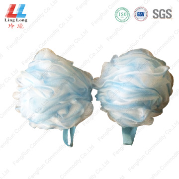 Light two color mesh sponge ball
