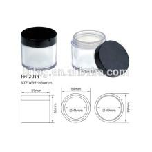 Frasco de pó vazio compactos cosméticos