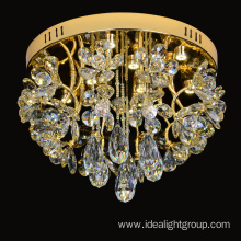 mini champagne chandelier crystals lighting