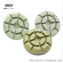 Resin bond diamond polishing pads for concrete and terrazzo