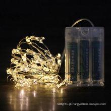 Fio de cobre para decoração de Natal luz de fio LED, em forma de estrela, à prova d'água, marcado com RoHS Ce