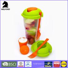 Coupe de salade en plastique colorée à la vente chaude